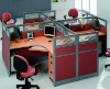 melamine office workstation furniture for 4 person
