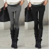 2012 lady fashion legging faux two piece