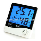 LCD Digital Temperature Humidity Meter Clock Hygrometer Backlight