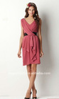 2011 new fashion V neck tea length bridesmaid dress wt11017