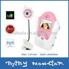 "2.4Ghz 1.8"" Color LCD Wireless Baby Monitor with Night Vision Pink Flower Camera"