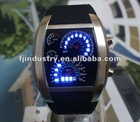Fashion Design Blue LED Light Dot Matrix Mens WATCH