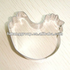 stainless steel chicken shape cookie cutter