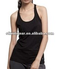 ladies or girls basic crew Neck solid color lace tank top