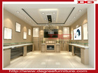 Fashion jewelry display floor stand with white tempered glass and LED light