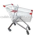 zinc plated supermarket cart
