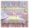 Pink Garden Baby Bedding Set