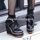 Zipper BLACK ladies ankle boot