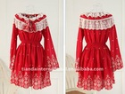 Red Princess Girl's Dress