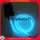 ShenZhen Visible Light Charging Sync LED USB Cable for iPhone,led usb cable Micro USB maufacturers & exporters & suppliers
