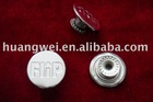 Pewter color garment metal shank button