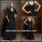 2012 Black V-neck Satin sexy mother of the bride dresses