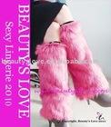 Faux Fox fur leg warmer