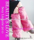 Faux Fox fur leg warmer