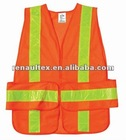 3M Reflective Tape HI VIS Orange Safety Vest