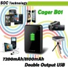 Portable Digital charger FOR iPad/iPhone/iTouch/GPS/Camera/MP4 7200mAh DC 5V 1000mA input Cager B01 portable battery charger