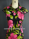 Fashion Chinese qipao/cheongsam in color black & Fuchsia