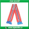 100% knitted polyester Norway flag Fan Scarf