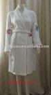 100%cotton terry white bathrobe