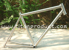Gr.9 Titanium Road Bike Frame Integrated Headtube/Internal Cable Running/Replaceable Dropout