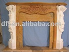 Marble fireplace (Mix color)