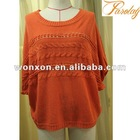Orange sweater ladies knit dress winter pullover