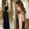 New Style Beaded One-shoulder Strap A-line Ruched Bridesmaid Dress