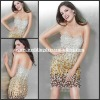 J0-1714890 Sexy Designer's Strapless Sheath Knee Length Beaded Party Cocktail Dresses