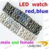 Fashion cheap led watch male and female