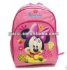 Baby&kids cheap school bags dark pink Mikey backpack HS25-MINNIE