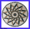 Round Marble Mosaic Tile Star Pattern