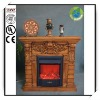 42 Inches Red Fiberclay Decorative Electric Fireplace