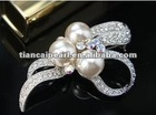 Free shipping!!!! High quality goods and fashionable white-collar style pearl brooch