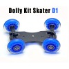 Table Top Compact Dolly Kit Skater Wheel Truck for DSLR Camera Video Monitor
