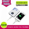 8000mAh New Design Power Bank For Iphone, Smart Phone, MP3/MP4 etc