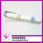Metal silver pen with blue and white porcelain pattern