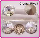 Color Clear/Crystal 14mm Rivoli Crystal Stones, Shiny Fancy Stones as SWAROV Crystal Stones, Chinese Top Quality Crystal Rivoli