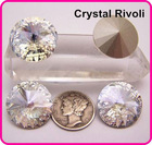 Color Clear/Crystal 14mm Rivoli Crystal Stones, Shiny Fancy Stones as SWAROV Crystal Stones, Chinese Top Quality Crystal Rivoli