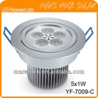 5*1W LED Recessed Light with CE Certificate