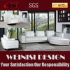 Living room furniture european design comfortable white leather corner sofa H082