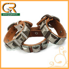 030664 Unique 2013 spikes buckle cuff leather style bracelet
