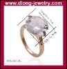 Wholesale Fashion 18K Rose Gold Plated Engagement Rings Design Wedding.Austrian Crystals,Nickle Free Antiallergic,Welcome OEM