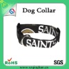 2012 fashionable custom black dog collar/pet collar with white print logo