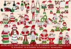 fabric santa snowman Christmas decorations