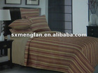 cotton/polyester colorful stipe printed quilts/comforter