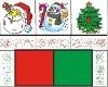 wood Christmas stamp set