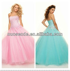 Latest New Design Pink Bead Prom Dresses 2013 Cheap girl pageant dress Girl Party Dress 2013