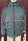 Men 50D with polar fleece lining hot sale padding warm hoody winter jacket/coat stock