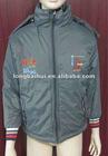 Men 50D with polar fleece lining hot sale padding warm hoody winter jacket/coat stock