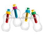 bpa free kids multi colored filter water bottle,plastic water filtered bottle